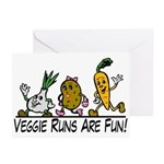 Veggie Runs Greeting Cards (Pk of 20)