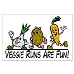 Veggie Runs Large Poster