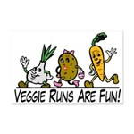 Veggie Runs Mini Poster Print