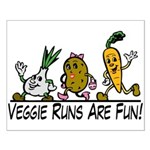 Veggie Runs Small Poster
