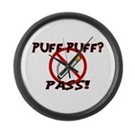 Puff Puff Pass Large Wall Clock