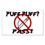 Puff Puff Pass Sticker (Rectangle 50 pk)
