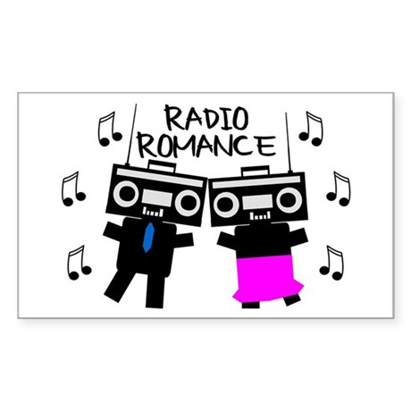 Radio Romance Sticker (Rectangle)