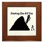 Smoking Can Kill You Framed Tile