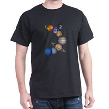 Our Solar System Black T-Shirt