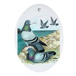 Rock Doves Oval Ornament