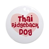 Thai Ridgeback Dog Ornament (Round)