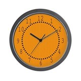 Orange Linen Look Wall Clock