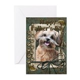 Stone Paws ShihPoo Greeting Cards (Pk of 20)