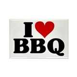 I Heart BBQ Rectangle Magnet