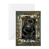 Stone Paws Pug Greeting Card