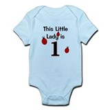 Little Lady Is 1! Onesie