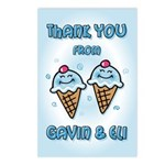 Ice Cream Twins Baker Postcards (Package of 8)