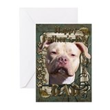 Stone Paws Pitbull - Jersey G Greeting Cards (Pk o
