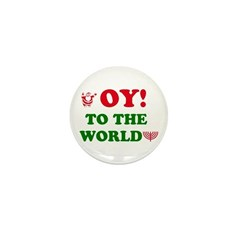 Oy to the World Mini Button
