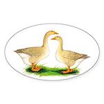 Buff Geese #2 Sticker (Oval 50 pk)