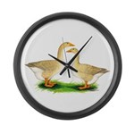 Buff Geese #2 Large Wall Clock