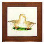 Buff Geese #2 Framed Tile