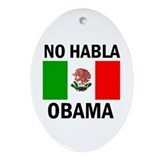 DEPORT DEMOCRATS Ornament (Oval)