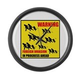 DEPORT DEMOCRATS Large Wall Clock
