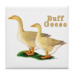 Buff Geese #5 Tile Coaster