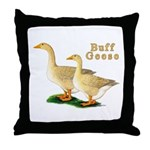 Buff Geese #5 Throw Pillow