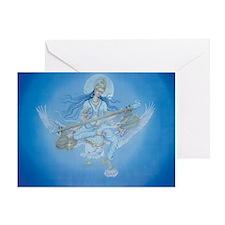 Saraswati Greeting Card