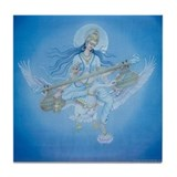 Saraswati Tile Coaster