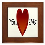 You Love Me Framed Tile