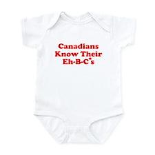 Canadians Know Their Eh B C's Infant Bodysuit