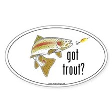 """Got Trout?"" Oval Decal"