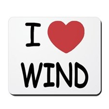 I heart wind Mousepad