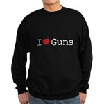 I love guns Sweatshirt (dark)