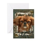 Stone Paws Cavalier Greeting Card