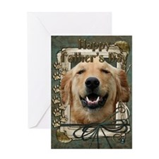 Stone Paws Golden Retriever Greeting Card