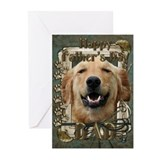 Stone Paws Golden Retriever Greeting Cards (Pk of