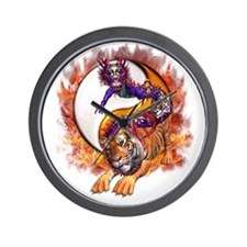Dragon Tiger Yin Yang Wall Clock