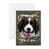 Stone Paws Springer Spaniel Greeting Cards (Pk of