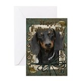 Stone Paws Dachshund Greeting Card