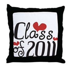 Love (Heart) Class 2011 Throw Pillow