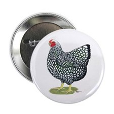 "Wyandotte Silver Hen 2.25"" Button (10 pack)"