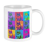 Op Art Siberian Husky Small Mug