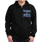 Fibromyalgia is a Pain Zip Hoodie (dark)
