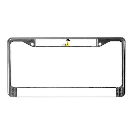Alien Abduction License Plate Frame