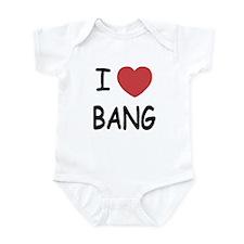 I heart bang Infant Bodysuit