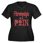 Fibromyalgia is a Pain Women's Plus Size V-Neck Da