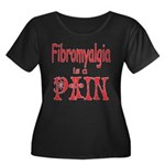 Fibromyalgia is a Pain Women's Plus Size Scoop Nec