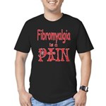 Fibromyalgia is a Pain Men's Fitted T-Shirt (dark)