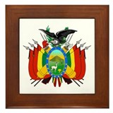 Bolivia Coat of Arms Framed Tile