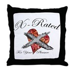X-Rated Throw Pillow